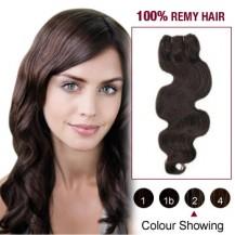 "10"" Dark Brown(#2) Body Wave Indian Remy Hair Wefts"
