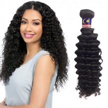 16 Inches Deep Curly Natural Black Virgin Malaysian Hair