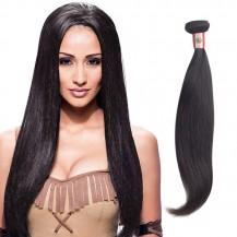 18 Inches Straight Natural Black Virgin Peruvian Hair
