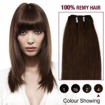 "12"" Medium Brown(#4) Light Yaki Indian Remy Hair Wefts"