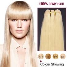 "14""Bleach Blonde(#613) Light Yaki Indian Remy Hair Wefts"