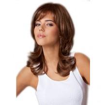 Long wavy dark auburn wig