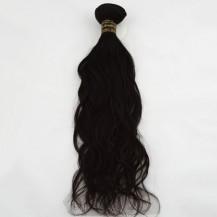 "12"" Jet Black(#1) Natural Wave Indian Remy Hair Wefts"