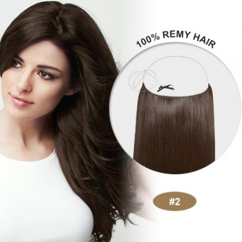 COCO Remy Hair Dark Brown(#2)