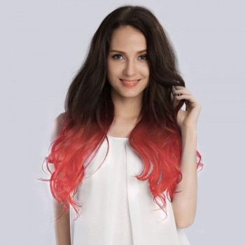 """20"""" Ombre(#2/Pastel) Pink 7pcs Clip In  Remy Human Hair Extensions"""