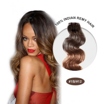 """16"""" #1B/12 Ombre Body Wave 100% Remy Human Hair"""