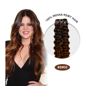 """16"""" #2/33 Ombre Curly 100% Remy Human Hair"""