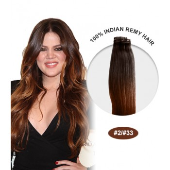 """14"""" #2/33 Ombre Straight 100% Remy Human Hair"""