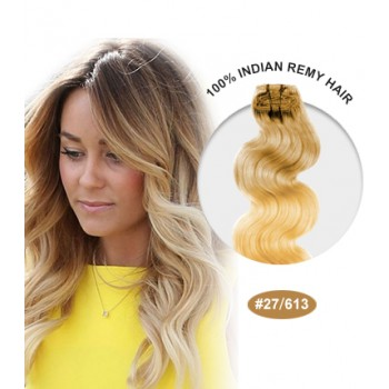 "16"" #27/613 Ombre Body Wave 100% Remy Human Hair"