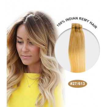 """16"""" #27/613 Ombre Straight 100% Remy Human Hair"""