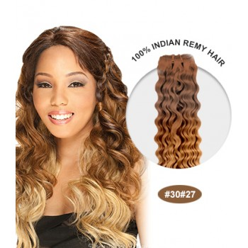 """16"""" #30/27 Ombre Curly 100% Remy Human Hair"""