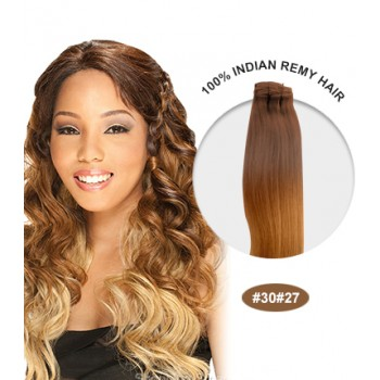 """14"""" #30/27 Ombre Straight 100% Remy Human Hair"""