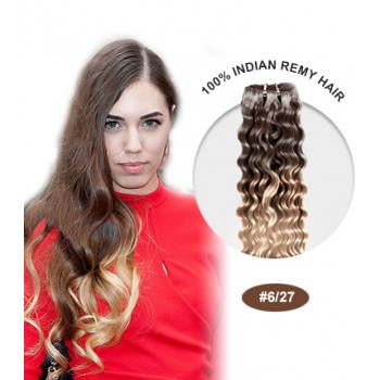 """16"""" #6/27 Ombre Curly 100% Remy Human Hair"""