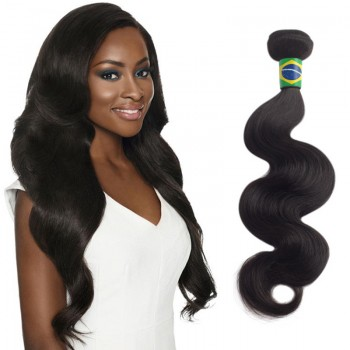 24 Inches Body Wave Natural Black Virgin Brazilian Hair