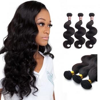 14 Inches*3 Body Wave Natural Black Virgin Peruvian Hair