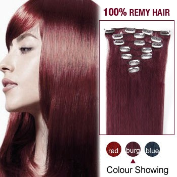 """24"""" Bug 7pcs Clip In  Human Hair Extensions"""