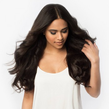 "22"" Dark Brown(#2) 7pcs Remy Clip In Hair Extensions-KINGHAIR"