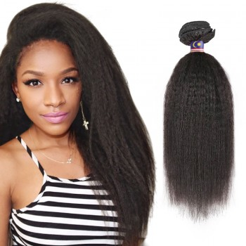 10 Inches Kinky Straight Natural Black Virgin Malaysian Hair