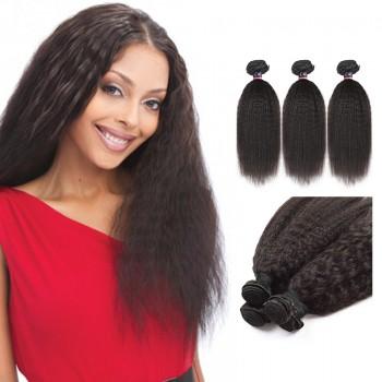 10 Inches*3 Kinky Straight Natural Black Virgin Malaysian Hair