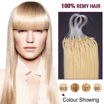 "22"" Bleach Blonde(#613) 100S Micro Loop Remy Human Hair Extensions"