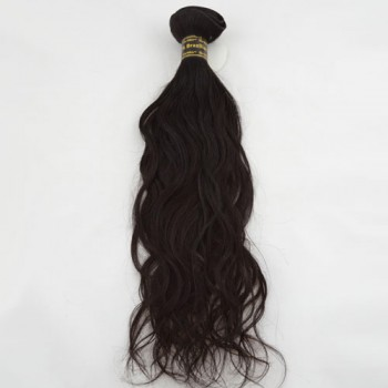 "16"" Dark Brown(#2) Natural Wave Indian Remy Hair Wefts"