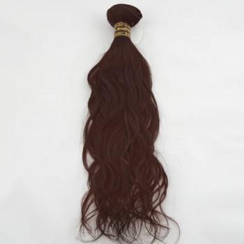 "10"" Dark Auburn(#33) Natural Wave Indian Remy Hair Wefts"