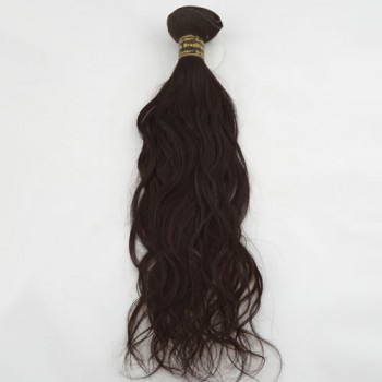 """16"""" Medium Brown(#4) Natural Wave Indian Remy Hair Wefts"""