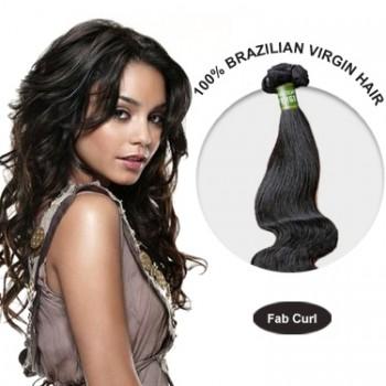 10 Inches Fab Curl Brazilian Virgin Hair Wefts