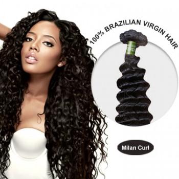 28 Inches Milan Curl Brazilian Virgin Hair Wefts