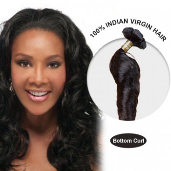 28 Inches Bottom Curl Indian Virgin Hair Wefts