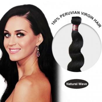 16 Inches Natural Wave Peruvian Virgin Hair Wefts