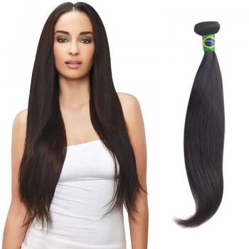 18 Inches Straight Natural Black Virgin Brazilian Hair