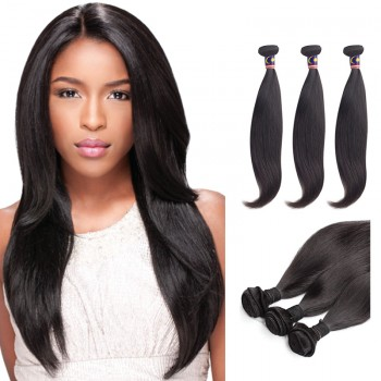 18 Inches*3 Straight Natural Black Virgin Malaysian Hair