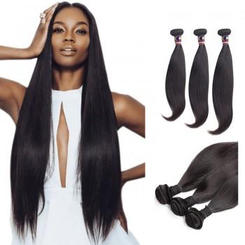 22/24/26 Inches Straight Natural Black Virgin Malaysian Hair