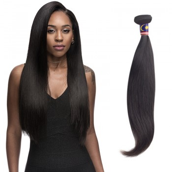 16 Inches Straight Natural Black Virgin Malaysian Hair