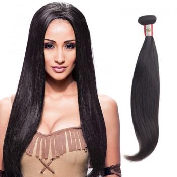 22 Inches Straight Natural Black Virgin Peruvian Hair