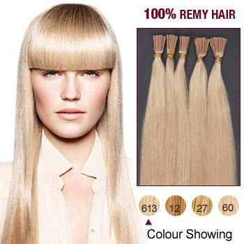 "22"" Bleach Blonde(#613) 100S Stick Tip Remy Human Hair Extensions"