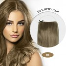 COCO Remy Hair Ash Brown(#8)