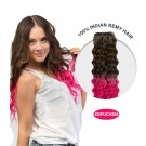"""16"""" #2/Fuchsia Ombre Curly 100% Remy Human Hair"""