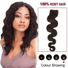"""18"""" Medium Brown(#4) Body Wave Indian Remy Hair Wefts"""