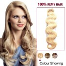 """22"""" Ash Blonde(#24) Body Wave Indian Remy Hair Wefts"""