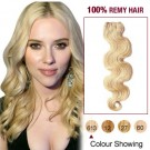 """14"""" Bleach Blonde(#613) Body Wave Indian Remy Hair Wefts"""