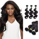 18 Inches*3 Body Wave Natural Black Virgin Brazilian Hair