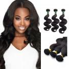 16/18/20 Inches Body Wave Natural Black Virgin Brazilian Hair