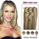 """18"""" #12/613 7pcs Clip In  Remy Human Hair Extensions"""