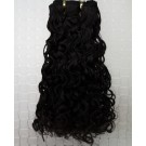 "22"" Jet Black(#1) Curly Indian Remy Hair Wefts"
