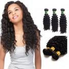 14/16/18 Inches Deep Curly Natural Black Virgin Brazilian Hair