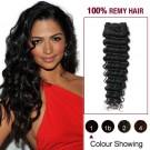 "12"" Jet Black(#1) Deep Wave Indian Remy Hair Wefts"