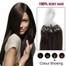 """26"""" Dark Brown(#2) 100S Micro Loop Remy Human Hair Extensions"""