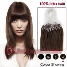 """26"""" Medium Brown(#4) 100S Micro Loop Remy Human Hair Extensions"""